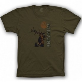 T-Shirt Wild Zone with Deer Print