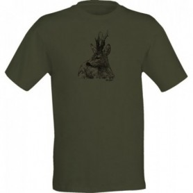 T-Shirt Wild Zone with Roe Deer Print