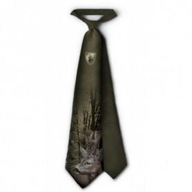 Tie with Roe Deer Print (green)