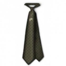 Tie with Deer Emblem (green)