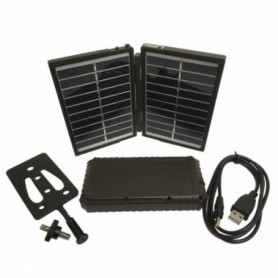 Solar charger with portable battery