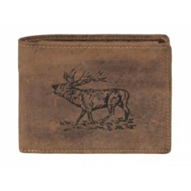 """Wallet """"Stag"""" High Format GREENBURRY 1705-Stag-25"""