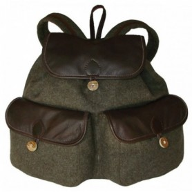 Leather and Wool Backpack 25 l