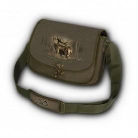 Shoulder Bag with Deer Print (green)