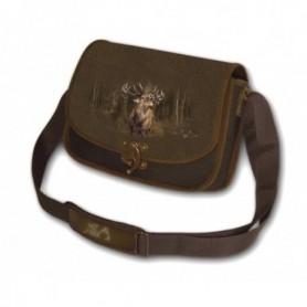 Shoulder Bag with Deer Print (brown)