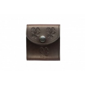 Leather standard rifle cartridge case for 5 Cartridges
