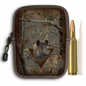 Camouflage Cartridge Holder with Boar Print (10shots)