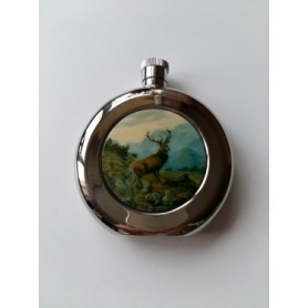 Flask with stag motif