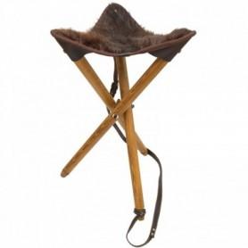 Three-legged chair With Natural Fur