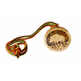 Medallion with amber