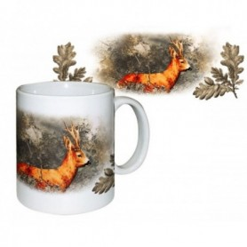 Ceramic Mug with Roe Deer Print