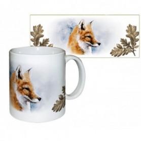 Ceramic Muf with Fox Decor