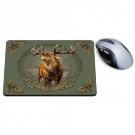Mouse Pad with Roaring Deer Print