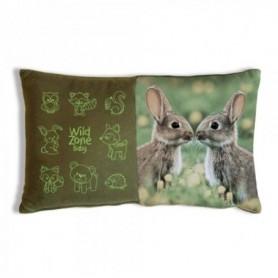 Cushion with Rabbit Print (35x20 cm)