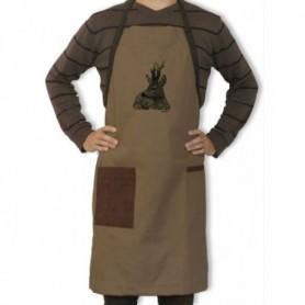 Apron with Roe Deer Motif (brown)