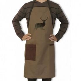 Apron with Deer Motif (brown)