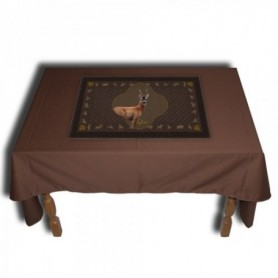Tablecloth with Roe Deer Motif (140x140 cm)