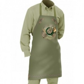 Apron with Hunting Horn Motif (green)
