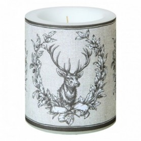 Candle with deer application
