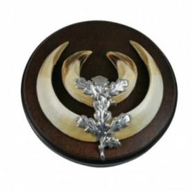 Silver Color Oak Leaf for Boar Tusks