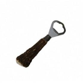 Bottle opener with antler handle