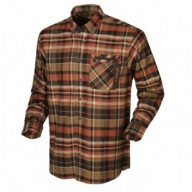 Harkila Newton L/S shirt (Dark burnt orange check)