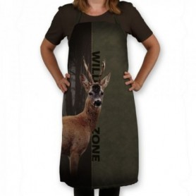 Apron with roe deer motif (green/brown) WILD ZONE M-166-1774