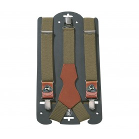 Braces AKAH with leather Stag brown/green 87640000