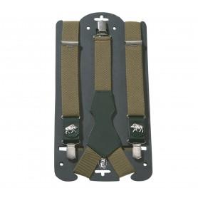 Braces AKAH with leather Wild Boar green 87642000