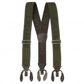 Suspenders CHEVALIER Logo Dark Green (One Size)