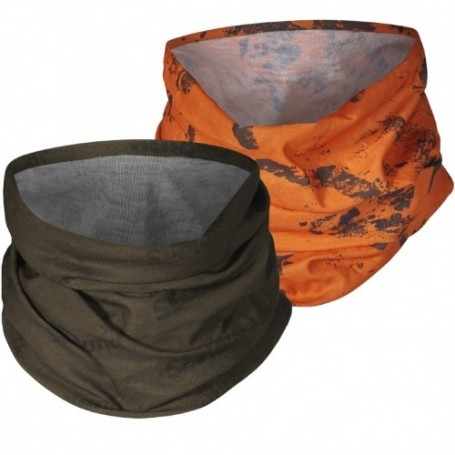 Neck Gaiter Seeland 2-pack Pine Green/InVis Orange Blaze